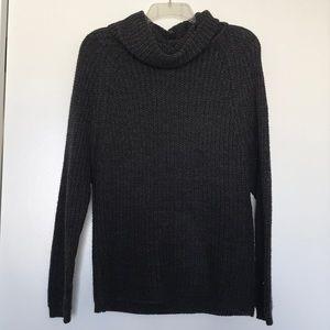 Dark gray turtleneck sweater